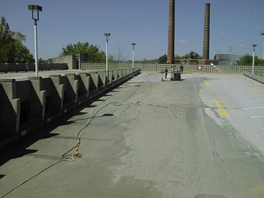 Elastomeric Membrane Parking : Parking garage floor scarification