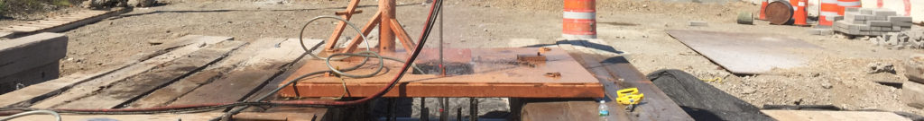 Anomaly removal on drilled shafts in high-traffic area