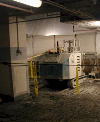 Parking Garage Hydro Demolition