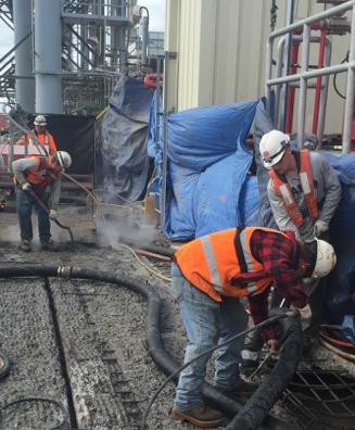 Concrete Hydro Demolition at Marine Dock
