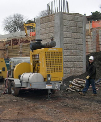 Hydro Demolition with custom-fabricated specialty tooling
