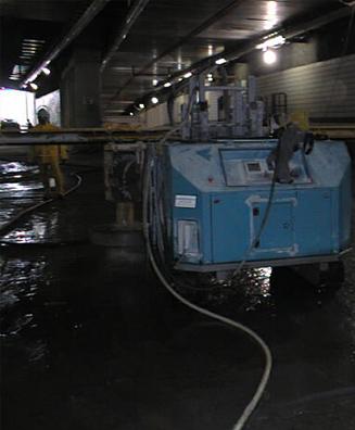 Concrete scarification surface preparation for LMC overlay