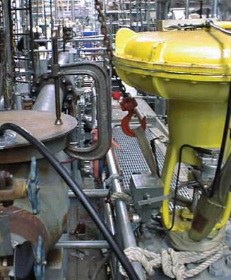 Gas line hydrolasing